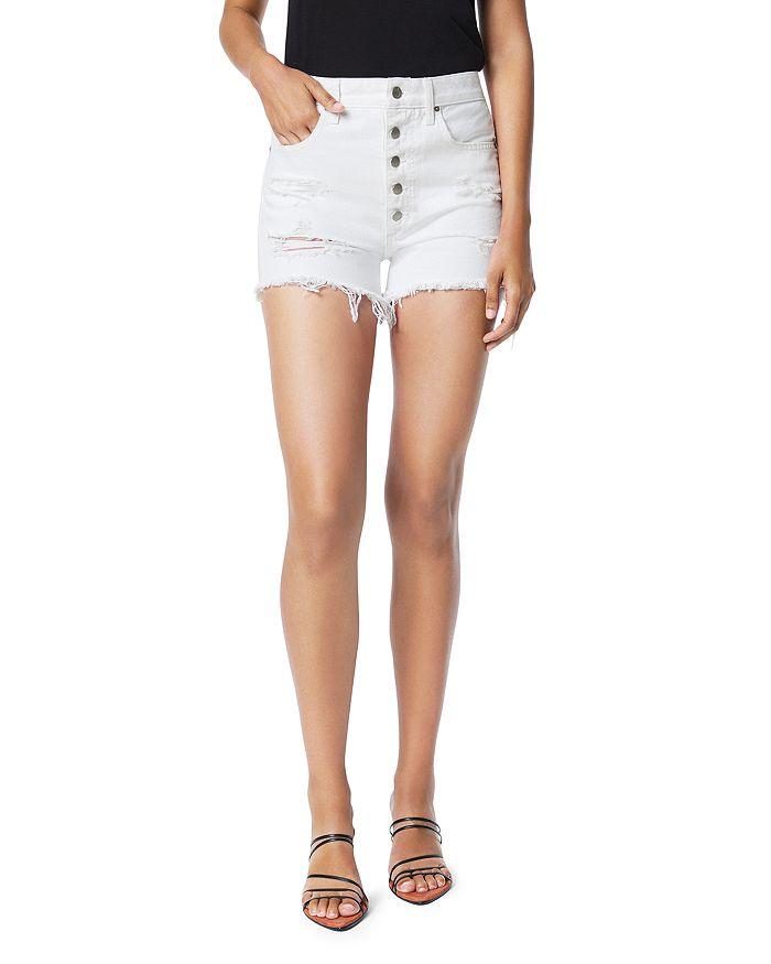 Joe's Jeans - The Kinsley Cotton Frayed Denim Shorts in Daylily