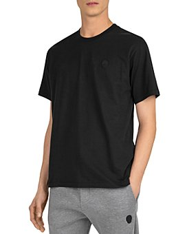 The Kooples - Cotton Leather-Logo Tee
