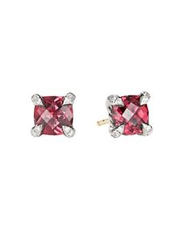 David Yurman - Châtelaine® Stud Earrings with Rhodalite Garnet and Diamonds