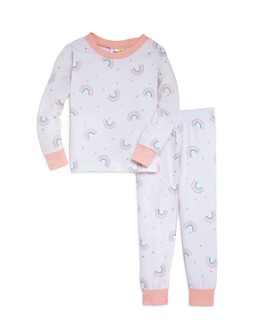 Bloomie's - Girls' Rainbows Pajama Set, Baby - 100% Exclusive
