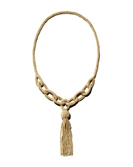 "RJ Graziano - Seed Bead Tassel Lariat Necklace, 15"""