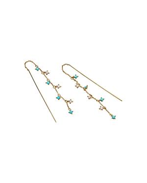Nadri 18K Gold-Plated Cubic Zirconia & Stone Threader Earrings