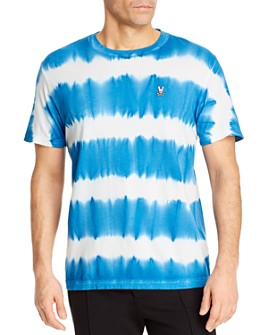Psycho Bunny - Tenby Cotton Tie-Dyed Stripe Tee