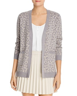 cupcakes and cashmere - Cheyenne Leopard-Print Cardigan