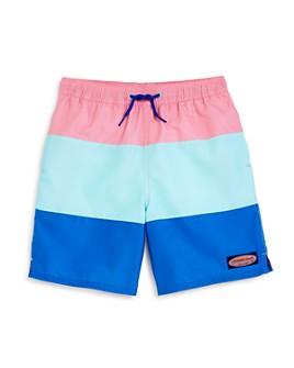 Vineyard Vines - Boys' Chappy Color-Blocked Stripe Swim Trunks - Little Kid, Big Kid