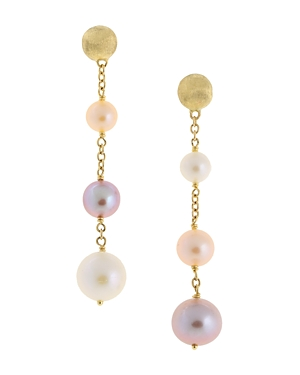 Marco Bicego 18K Yellow Gold Africa Pearl Cultured Freshwater Pearl Drop Earrings