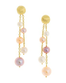 Marco Bicego - 18K Yellow Gold Africa Pearl Cultured Freshwater Pearl Drop Earrings