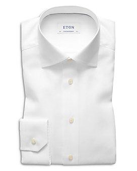 Eton - Contemporary Fit Herringbone Twill Dress Shirt