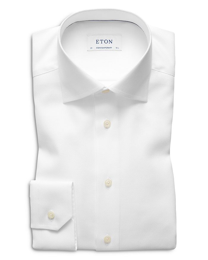 Eton - Contemporary Fit Herringbone Twill Dress Shirt