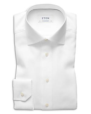 Eton Contemporary Fit Herringbone Twill Dress Shirt