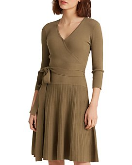 Ralph Lauren - Crossover Fit-and-Flare Dress