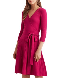 Ralph Lauren - Pleated Faux-Wrap Dress