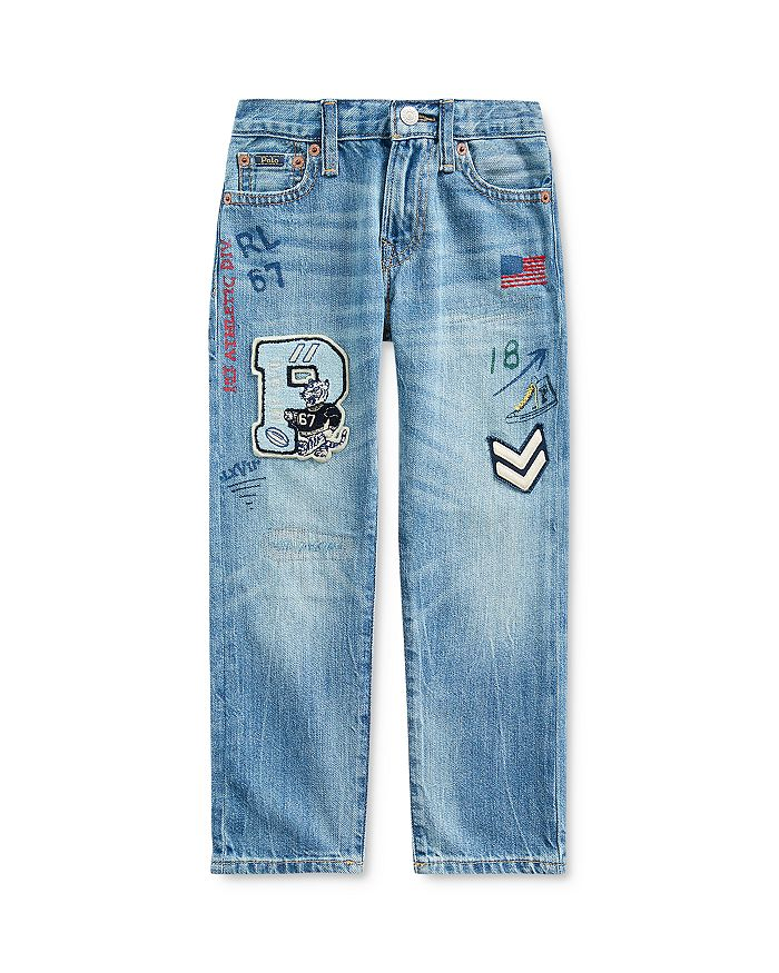 Ralph Lauren - Boys' Sullivan Cotton Patched Straight Jeans - Little Kid