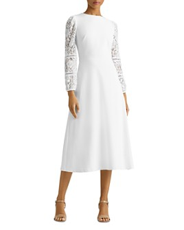 Ralph Lauren - Lace Puff-Sleeve Dress