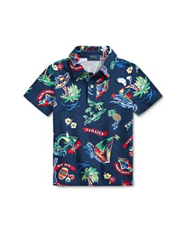 Ralph Lauren - Boys' Cotton Tropical Graphics Polo Shirt - Little Kid