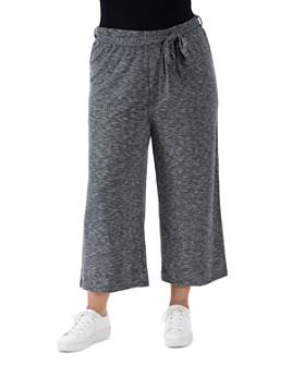 B Collection by Bobeau Curvy - Doris Knit Cropped Pants