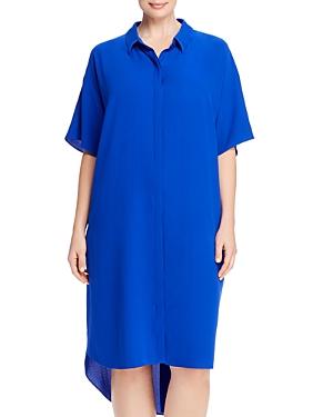 Eileen Fisher Plus Classic Collar Shirt Dress