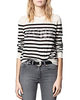 Zadig & Voltaire - Source Striped Cashmere Sweater