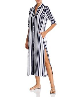 Tommy Bahama - Tan Lines Striped Midi Dress Swim Cover-Up
