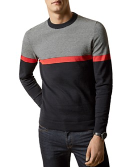 Ted Baker - Push It Striped Crewneck Sweater