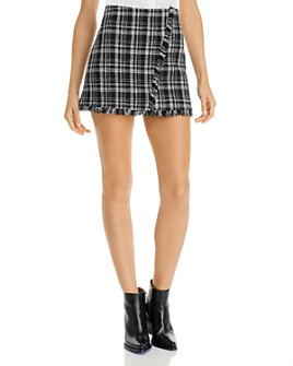 AQUA - Tweed Plaid Mini Skirt - 100% Exclusive