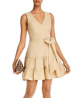 AQUA - Belted Tiered Dress - 100% Exclusive
