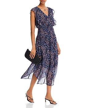 AQUA - Floral-Print Ruffled Dress - 100% Exclusive