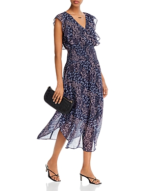 Aqua Floral Print Ruffled Dress - 100% Exclusive-Women
