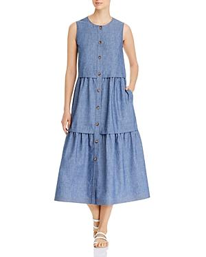 Lafayette 148 New York Nadine Tiered Dress-Women