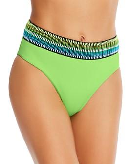 Peixoto - Kiwi Zoni High-Waist Bikini Bottom