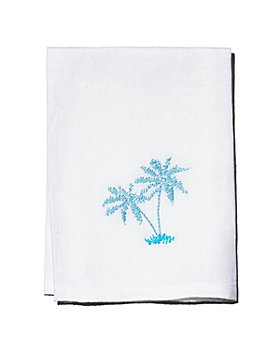 Hibiscus Linens - Hand-Embroidered Hand Towel - 100% Exclusive