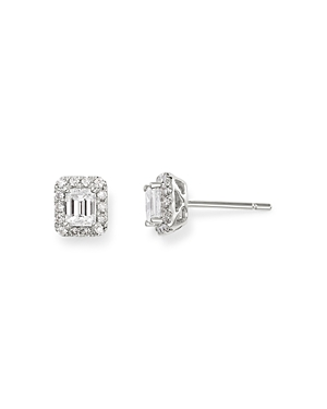 Bloomingdale's Diamond Halo Stud Earrings in 14K White Gold, 0.65 ct. t.w. - 100% Exclusive