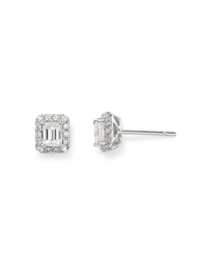 Bloomingdale's Diamond Halo Stud Earrings in 14K White Gold, 0.65 ct. t.w. - 100% Exclusive    Bloomingdale's