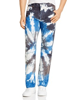 Levi's - 501 93 Straight Fit Tie-Dyed Jeans in Silver
