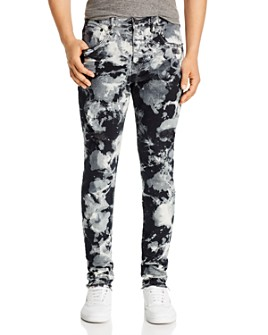 Purple Brand - Dropped Skinny Fit Jeans in Black Marble