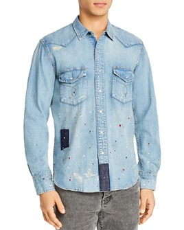 Purple Brand - Denim Patch Regular Fit Shirt