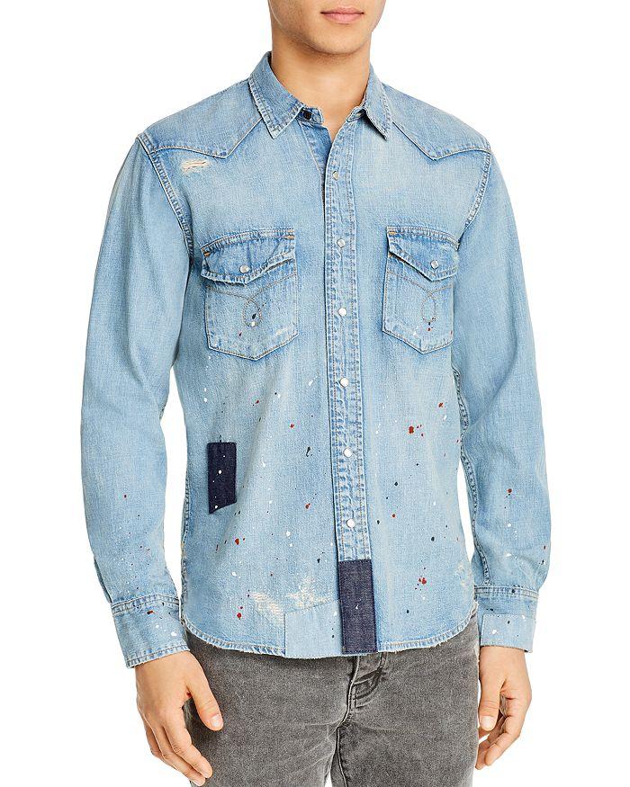 Purple Brand - Denim Patch Regular Fit Shirt