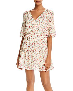 Lost and Wander - Love In Bloom Floral Print Mini Dress