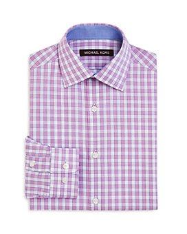 Michael Kors - Boys' Cotton Check Dress Shirt - Big Kid