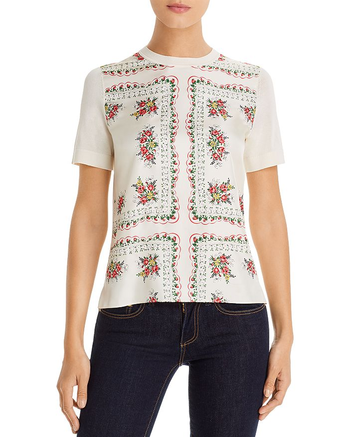 Tory Burch - Floral Print Sweater