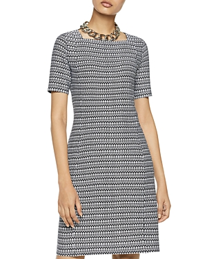 Misook Printed Square Neck Dress