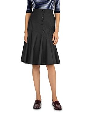 Lillia Cotton Poplin Midi Skirt