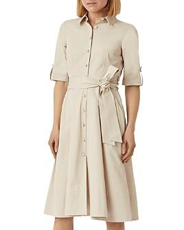 HOBBS LONDON - Tyra Belted Sateen Shirtdress