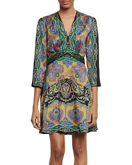 Sandro - Rayan Short Printed Dress