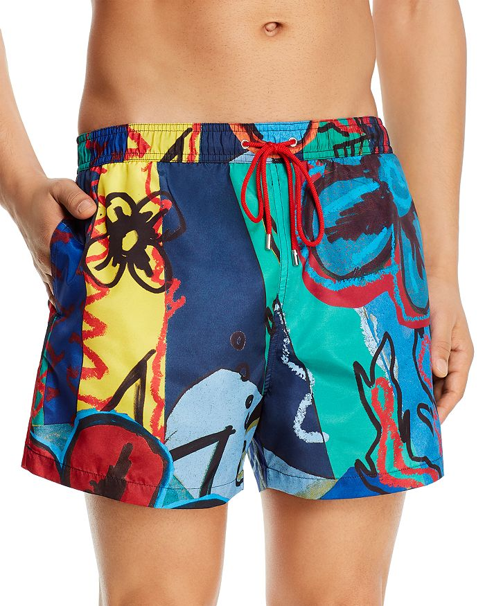 PS Paul Smith - Collage Swim Trunks