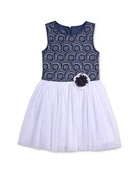 Pippa & Julie - Girls' Textured Geo-Print Fit-and-Flare Tutu Dress - Little Kid