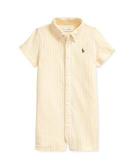 Ralph Lauren - Boys' Cotton Oxford Stripe Shortalls - Baby