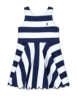 Ralph Lauren - Girls' Ruffled Stretch Ponte Dress - Little Kid