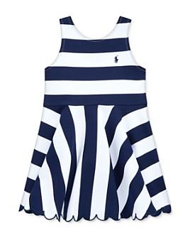 Ralph Lauren - Girls' Ruffled Stretch Ponte Dress - Little Kid