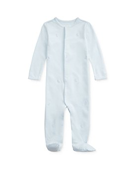 Ralph Lauren - Boys' Cotton Interlock Embroidered Bunny Footie - Baby